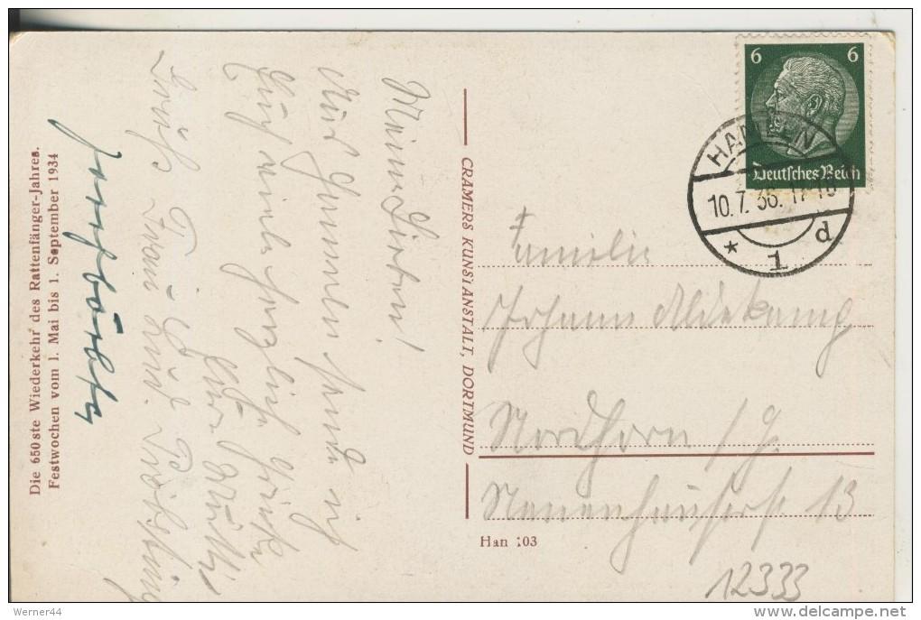 Hameln V.1936 Auszug Der Ratten -- Festwochen Vom 1 Mai Bis 1. September 1934  (12333) - Hameln (Pyrmont)