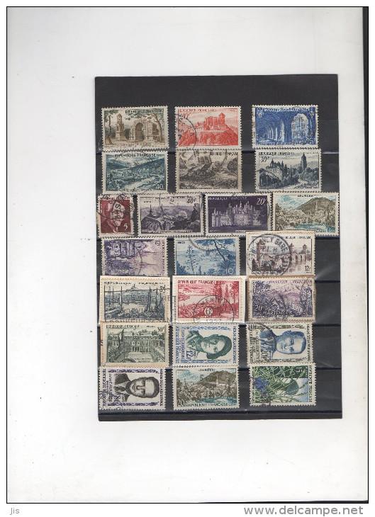 FRANCE Avant 1960 - 20  Timbres Oblitération Ronde - Stamps
