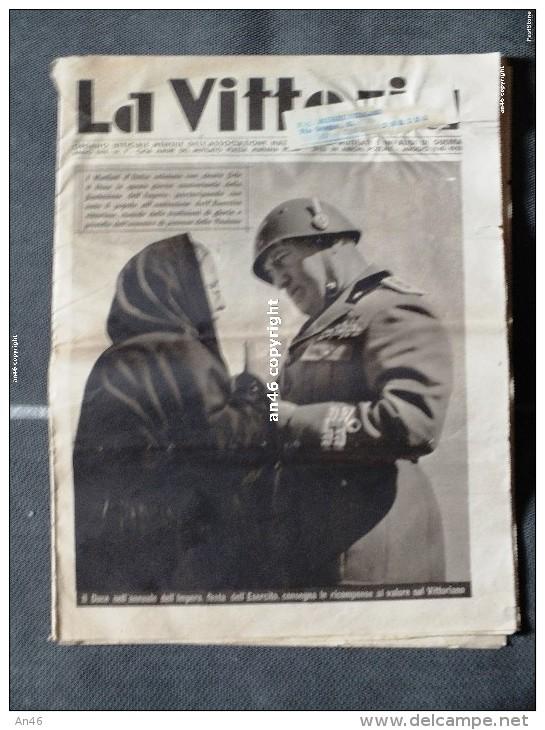 """LOTTO DI 1 NUMERO DEL GIORNALE""""LA VITTORIA"""" MAGGIO 1940-VEDI SCAN -16 PAGINE - Libri, Riviste, Fumetti"""