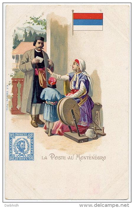 MONTENEGRO Postcard: La Poste Au Montenegro.  Unused, - Montenegro