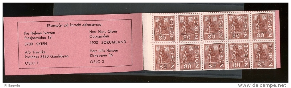 Booklet  Facit 665 A Good One   Stamps Are Phosphore - Carnets