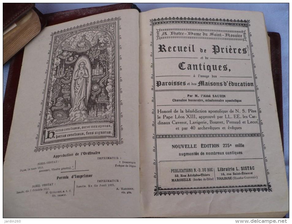 """Livre """" Recueil De Prières Et De Cantiques"""" Par L'abbé Saurin - Christianisme"""