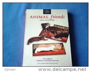 Boîte De 2 Puzzles Optimago En Bois - Neuve - Motifs: Chats Et Chatons (peinture De Edwin Noble, Peintre Anglais Animali - Puzzles