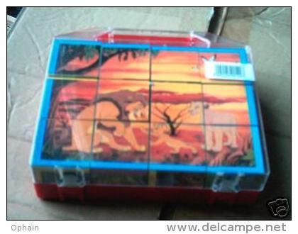 Puzzle Cubes Le Roi Lion (Disney) - Neuf - 12 Cubes - Puzzles