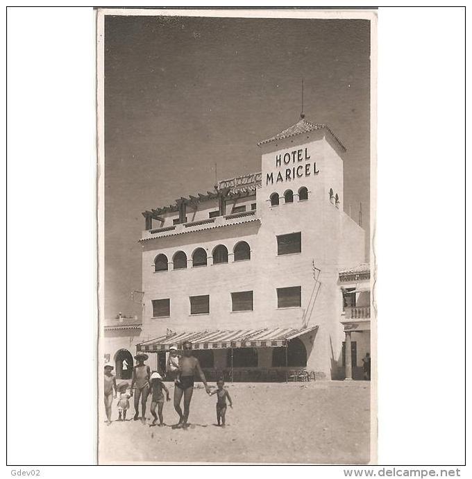 BLARSTP3264-LFTD8898 .Tarjeta Postal De BALEARES.Edificio,playa.HOTEL MARICEL En .MALLORCA - Mallorca