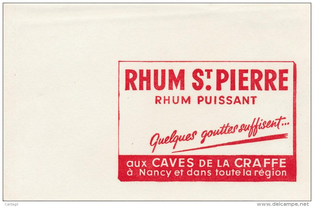 Buvard (format 135 X 210mm)  - B1761 à B1764 - Rhum St Pierre - Caves De La Craffe -54 - Nancy- (non Utilisé ) - Buvards, Protège-cahiers Illustrés