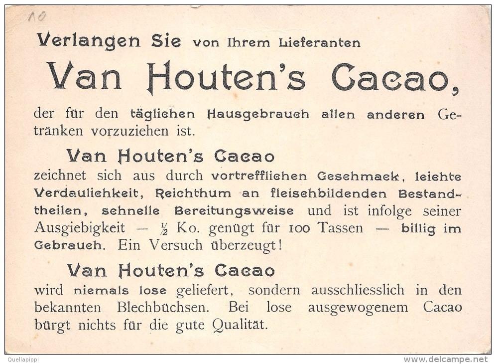 """02677 """"VAN HOUTEN'S CACAO - HOLLAND""""  BARCHE - PORTO. FIGURINA ORIGINALE - Cioccolato"""