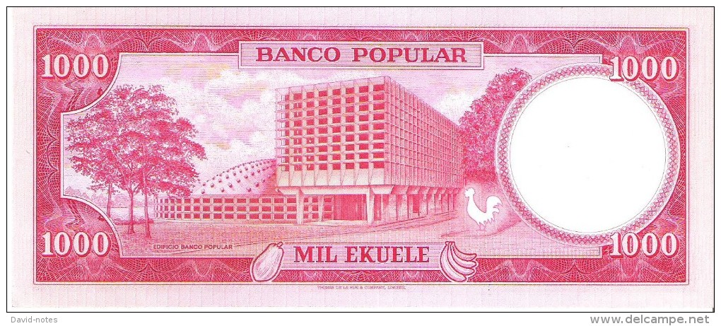 Equatorial Guinea - Pick 13 - 1000 Ekuele 1975 - Unc - Guinea Ecuatorial