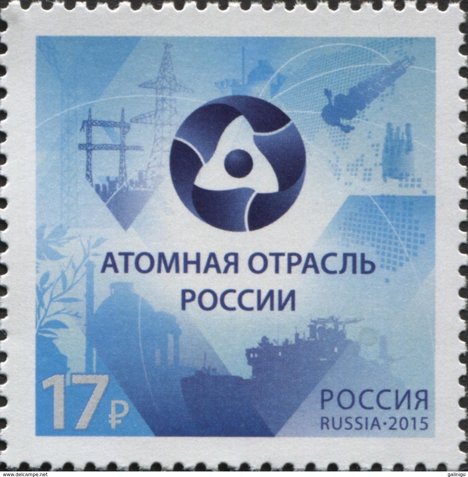 2015 1v Russia Russland Russie Rusia Russian Nuclear Industry-Energies-Atom-icebreaker  Mi 2223 MNH ** - Navi Polari E Rompighiaccio
