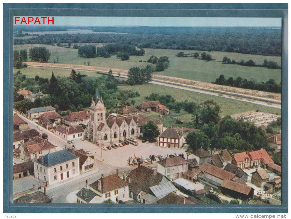 10-LUSIGNY-sur-BARSE-vue Aérienne Sur Le Centre Ville Et Son église- Non écrite - 2 Scans - 10.5 X 15 - CIM COMBIER - Frankreich