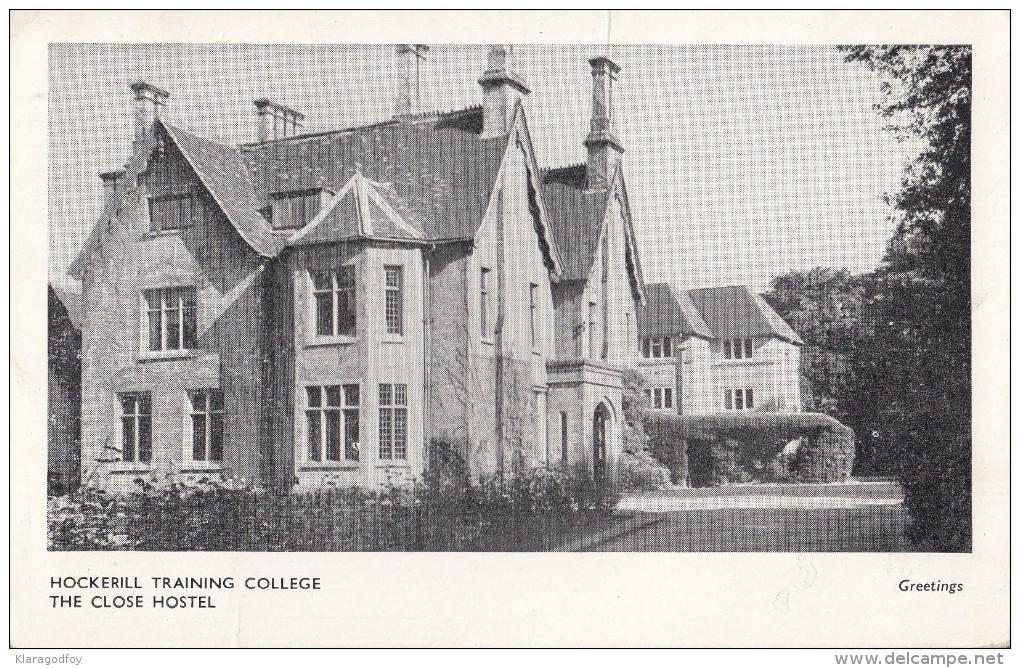 Hockerill Training College The Close Hotel Esperanto Postcard Travelled 1961 To Yugoslavia Bb151102 - Esperanto