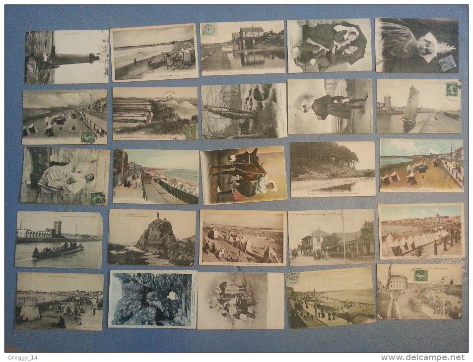 CP Carte Postale LOT 52 Cartes Sables D'olonne Vendée (Z44) - Cartes Postales