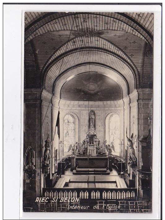 RIEC-SI-BELON : Intérieur De L'eglise - Tres Bon Etat - Autres Communes