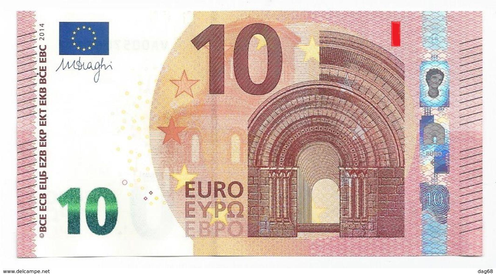 EURO FRANCE 10 U003 A1 UA007 UNC DRAGHI - EURO