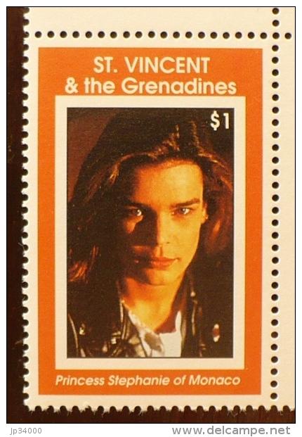 SAINT VINCENT GRENADINE,  Musique, STEPHANIE DE MONACO 1 Valeur Emise En 1998. ** MNH - Chanteurs
