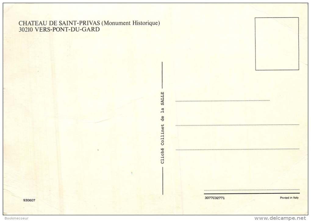 30   VERS PONT DU GARD 30210  CHATEAU DE SAINT PRIVAT  MONUMENT HISTORIQUE - France