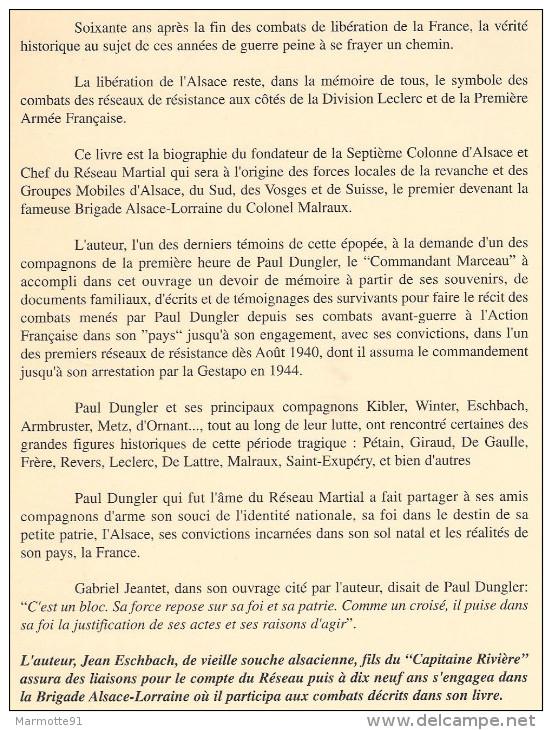RESISTANCE ALSACIENNE PAUL DUNGLER 7e COLONNE ALSACE RESEAU MARTIAL FFI GROUPES MOBILES - 1939-45