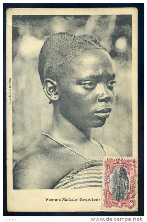 Cpa Du Congo - Kinshasa - Femme Makele  -- Aruwimi    BB18 - Congo Belge - Autres