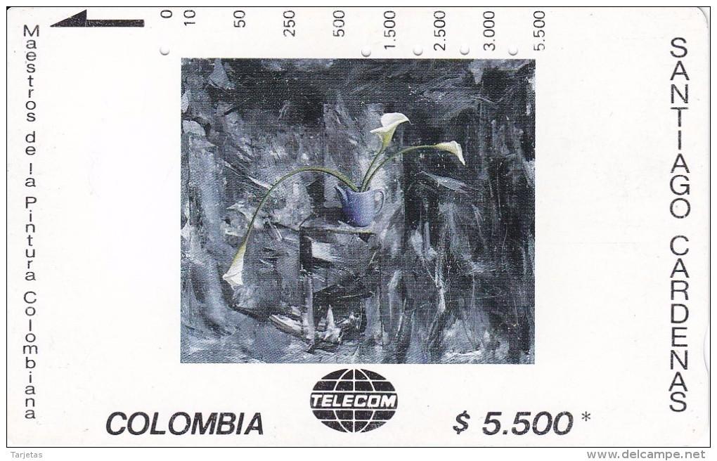 TARJETA DE COLOMBIA DE TELECOM DE $5500 MAESTROS DE LA PINTURA (SANTIAGO CARDENAS) TRES CARTUCHOS - Colombia