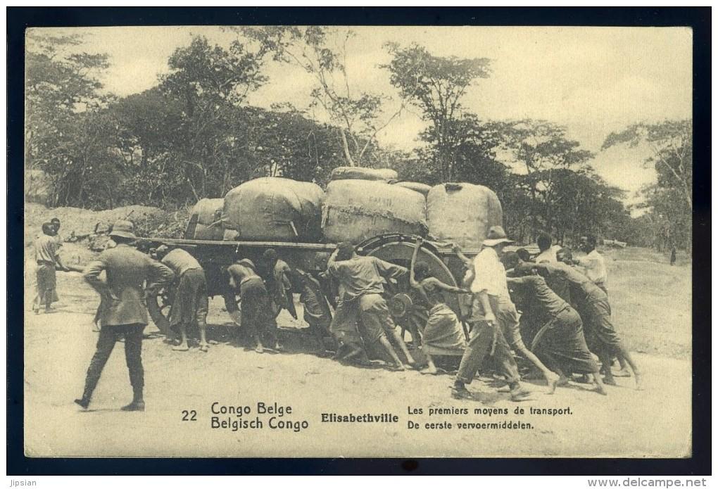 Cpa Du Congo Kinshasa Elisabethville  -- Les Premiers Moyens De Transport    BB18 - Congo Belge - Autres