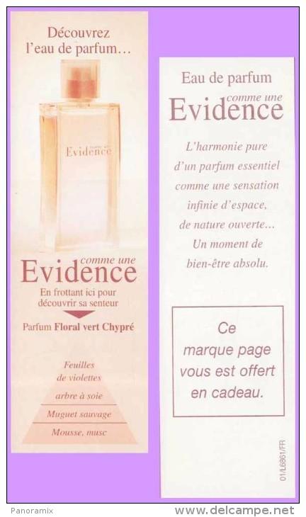 Marque-page °° Parfum Y.Rocher Clair Comme Une Evidence Floral Vert Chypré  °-°  5 X 16 - Segnalibri