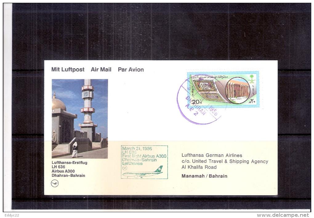 First Flight Airbus A300 -  Dharan-Bahrain-Germany (to See) - Bahreïn (1965-...)