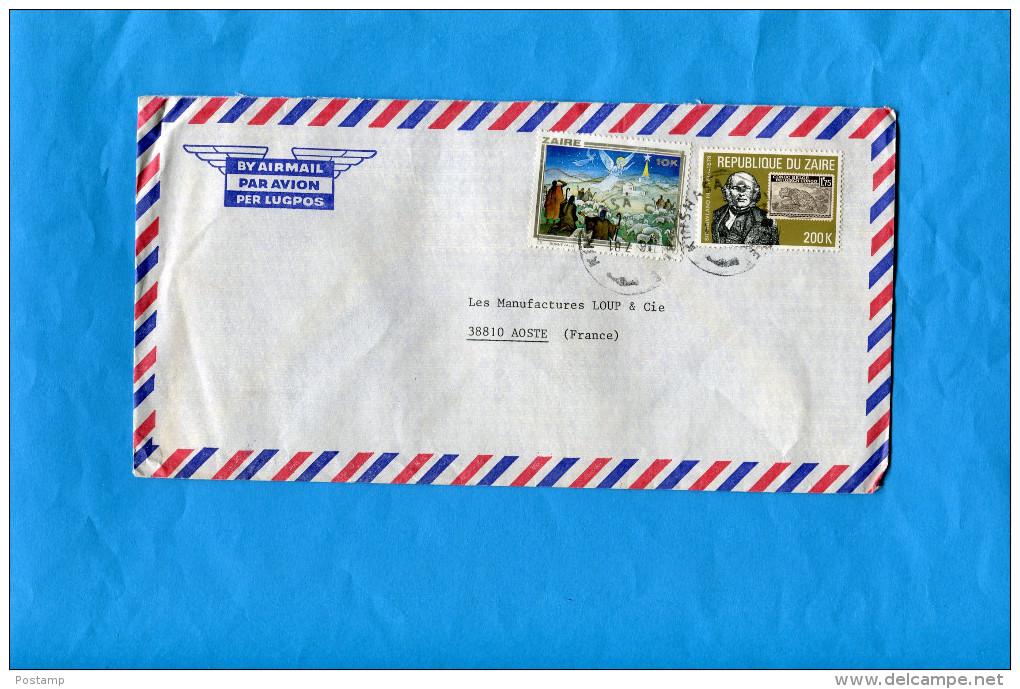 MARCOPHILIE- Lettre ZAÏRE- -pour Françe-cad  1981-+2-stamps N°1016 Noel 80+976 HILL Timbre - Zaïre