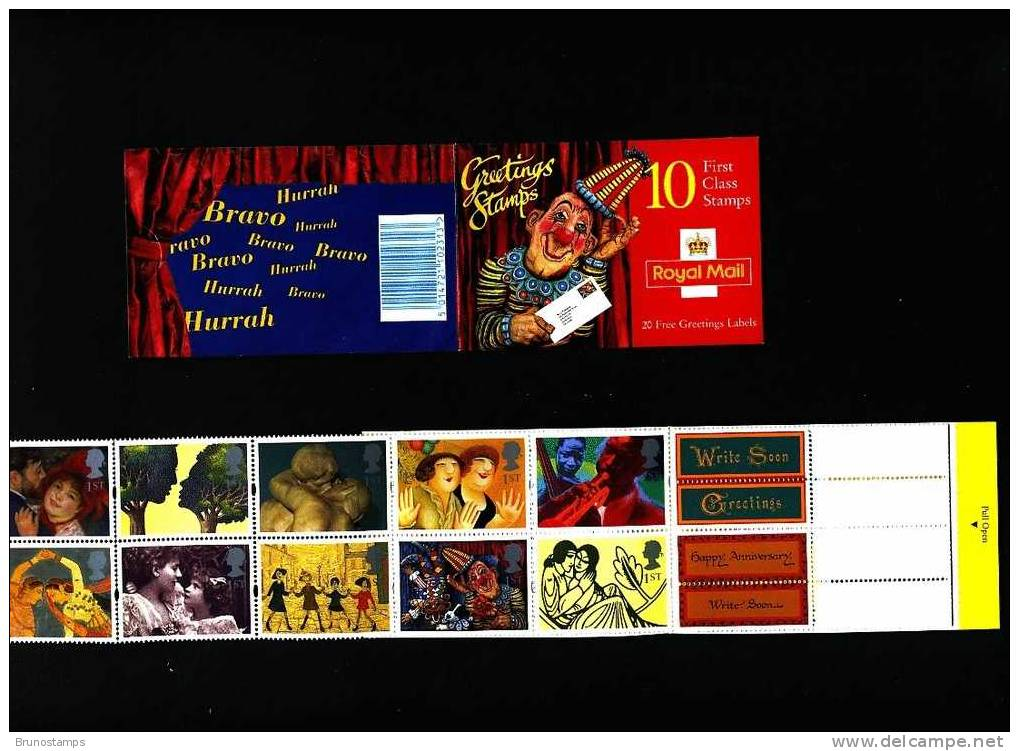 GREAT BRITAIN - 1995 GREETINGS BOOKLET CLOWN DESIGN  MINT NH - Libretti