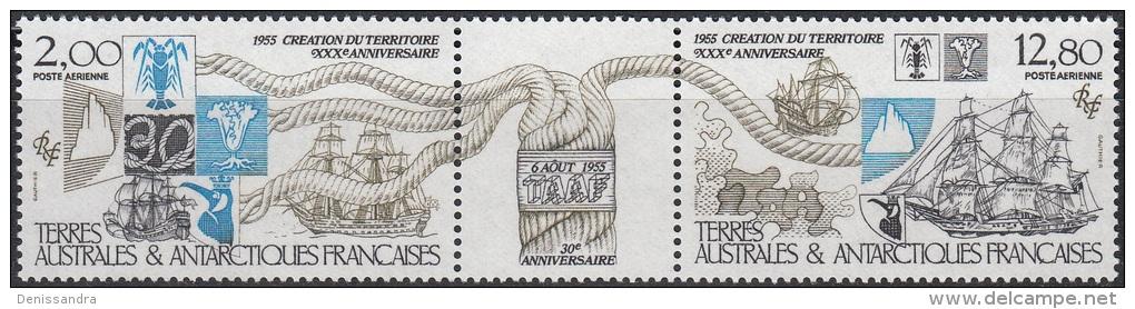 TAAF 1985 Yvert Poste Aérienne 91A Neuf ** Cote (2015) 7.70 Euro 30ème Anniversaire De La Création Du Territoire - Poste Aérienne
