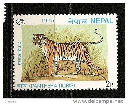 Nepal 1975 Tigre Tiger MNH ** - Nepal