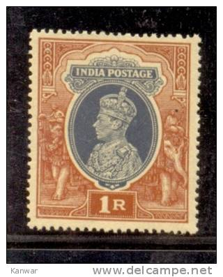 1941 BRITISH INDIA RE1 KGV1 MINT NEVER HINGED STAMP UMM. - India