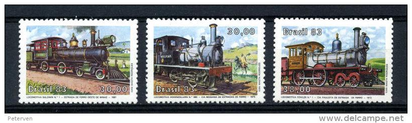 Brasilien: Histor. Lokomotiven 1983; Postfrisch/MNH - Trains
