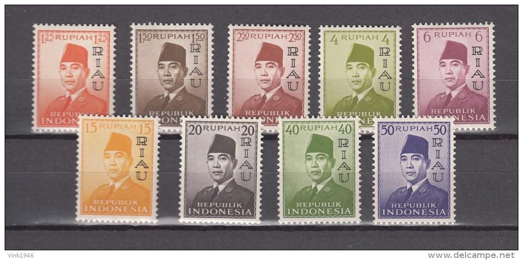 Indonesia 1960,9V,complete Set,president Soekarno Ovpt R!AU,MNH/Postfris(A1915) - Indonesië