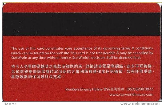 StarWorld Casino Macau Privilege Classic / Slot Card .....[FSC]..... - Casino Cards