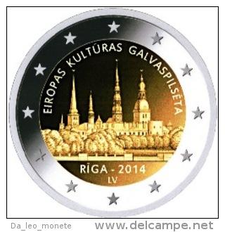 2 EURO COMMEMORATIVE LETTONIA LETTONIE 2014 RIGA - Latvia