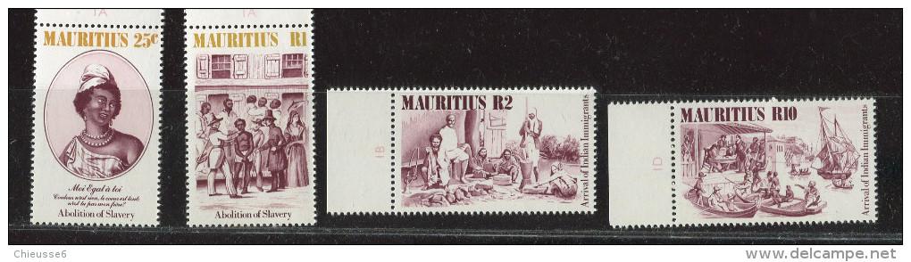 Maurice ** N°  607 à 610 - Abolition De L' Esclavage - Maurice (1968-...)