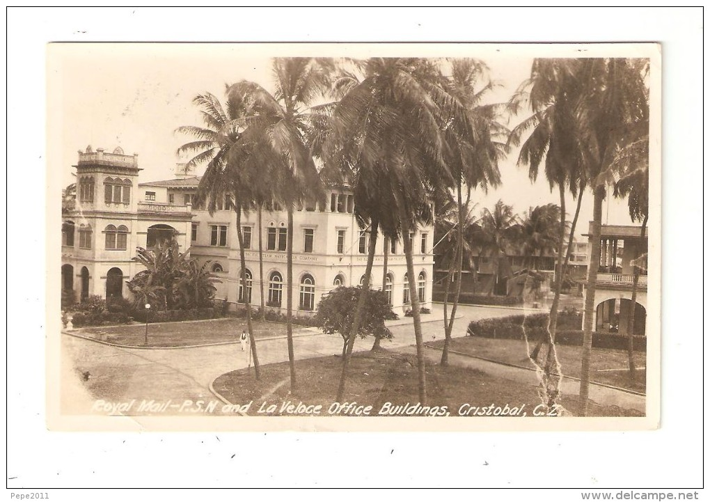 CPA PANAMA CRISTOBAL Royal Mail PSN & La Veloce Office Buildings - Panama