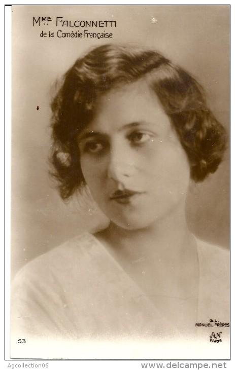 Mme FALCONNETTI. COMEDIE FRANCAISE - Théâtre