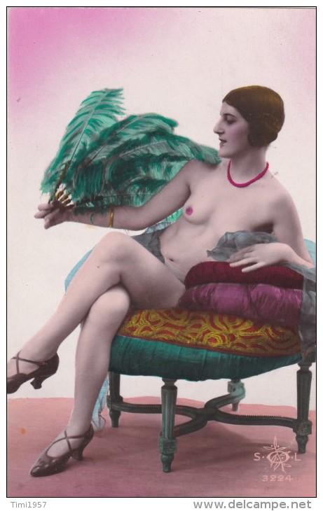 Erotic Card Ca. 1910 Colour - Vintage Women < 1920