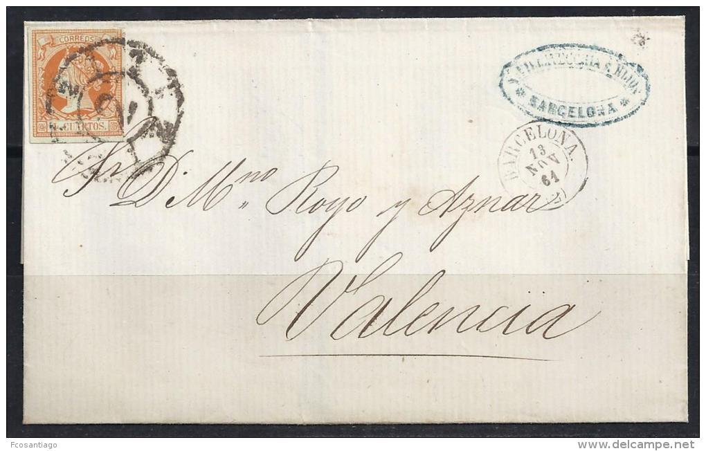 ESPAÑA 1864- Envueltas Barcelona A Valencia - 1850-68 Reino: Isabel II
