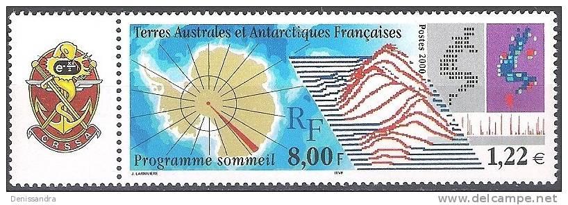 TAAF 2000 Yvert 266 Neuf ** Cote (2015) 3.80 Euro Programme Sommeil - Terres Australes Et Antarctiques Françaises (TAAF)