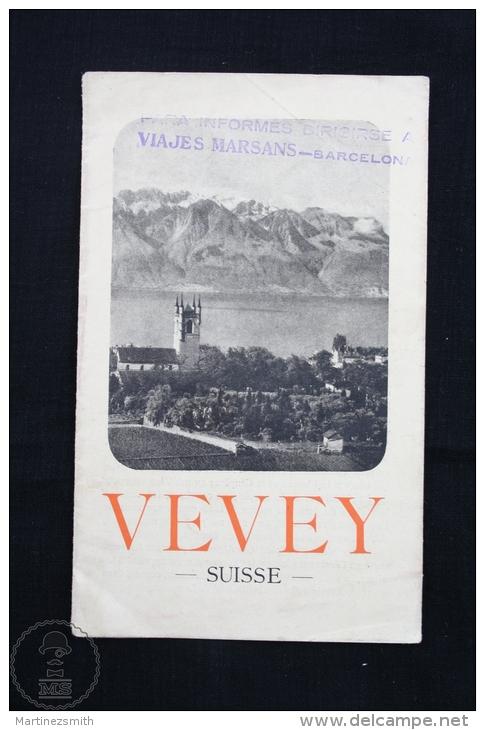 Old Switzerland Vevey Tourist Guide Brochure - Turismo