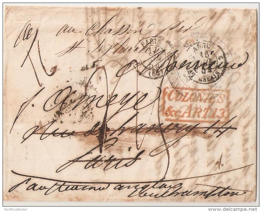 1854 - Transatlantic Stampless Uruguay To France - 1. ...-1850 Prefilatelia