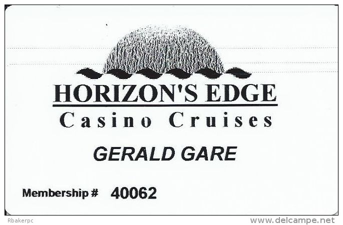 Horizon´s Edge Casino Cruises Slot Card - Casino Cards