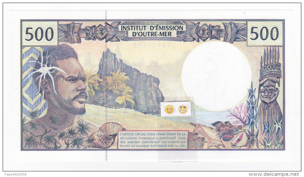 Polynésie Française / Tahiti - 500 FCFP - V.006 / Pouilleute-Ferman-Audren - (1998-2000) - Papeete (French Polynesia 1914-1985)