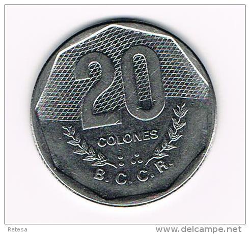 °°  COSTA RICA  20 COLONES  1985 - Costa Rica