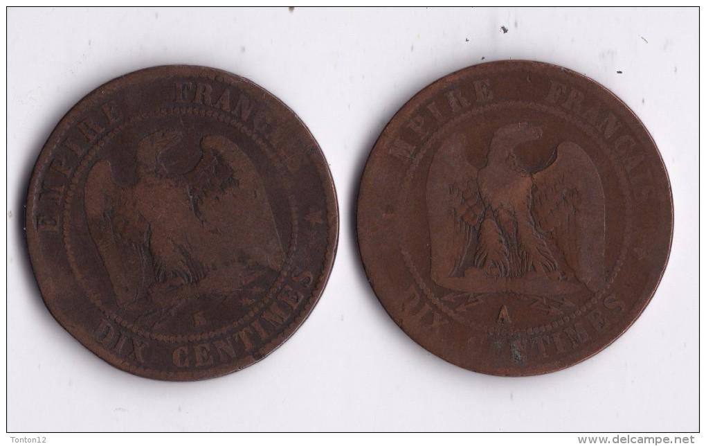 10 CENTIMES 1854 K NAPOLEON III +1864 A       LOT 18 - Francia