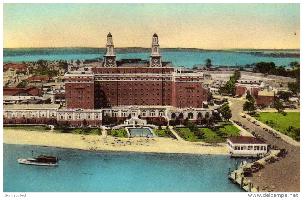 Aerial View Chamberlin Hotel,Old Point Comfort, Hampton, Virginia - Hampton