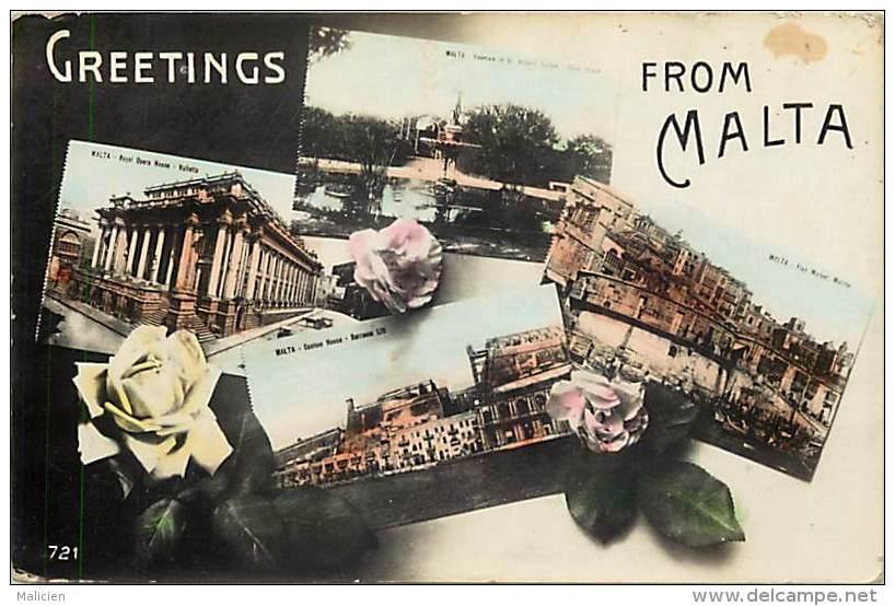 - Pays Divers -  Malte - Malta - Ref E 250 -  Greetings From Malta - - Malte