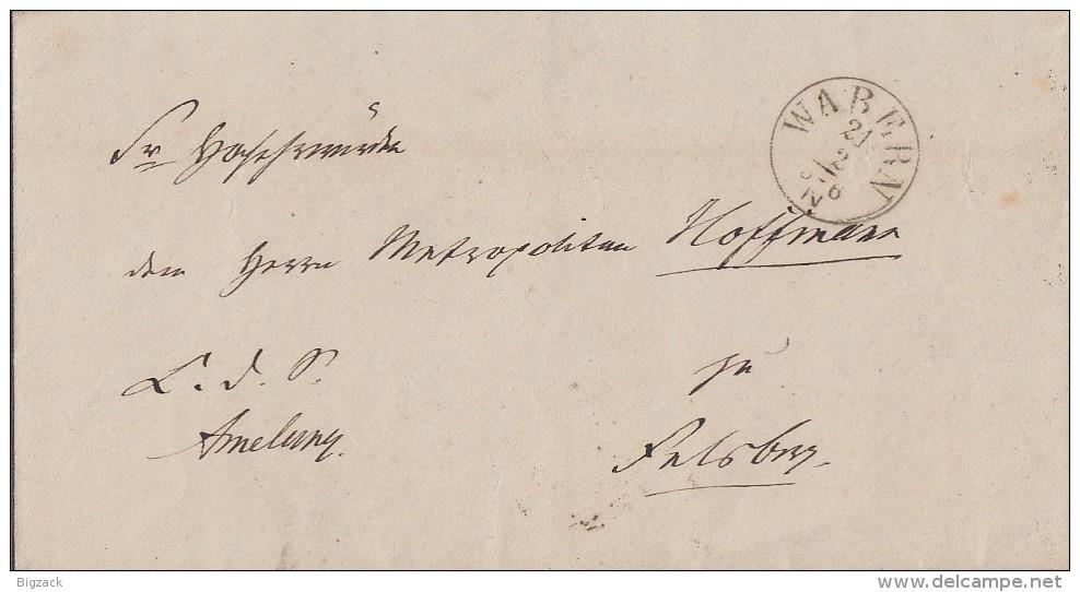 Thurn & Taxis Brief Wabern 21.2.1865 Mit Stempeln Von Felsberg Und Cassel Ansehen !!!!!!!!!!! - Thurn Und Taxis